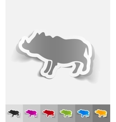 Realistic design element boar vector