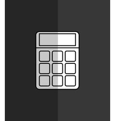 calculator maths finance vector image