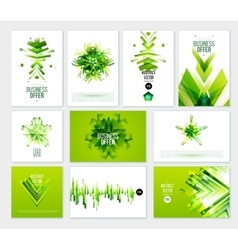 Business abstract green template vector