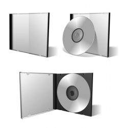 Cd dvd set vector