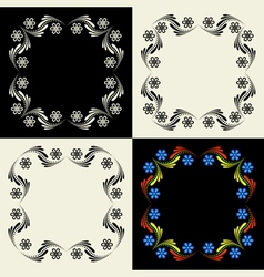 Decorative framework Set vector image