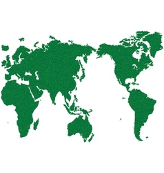 World map grass green vector