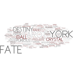 Fate word cloud concept vector