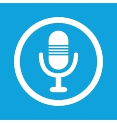 Microphone sign icon vector