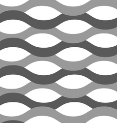 Gray ornament with overlapping waves vector