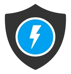 Electric guard icon vector