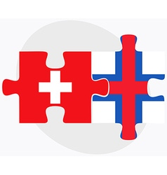 Switzerland and faroe islands vector