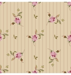 Vintage seamless pattern with roses vector