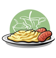 Mashed potatoes vector