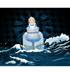 Alice in the Jar vector image
