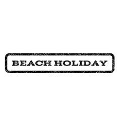 Beach holiday watermark stamp vector