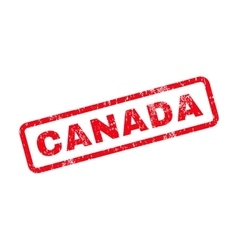 Canada Text Rubber Stamp vector image