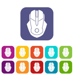 Computer mouse icons set vector