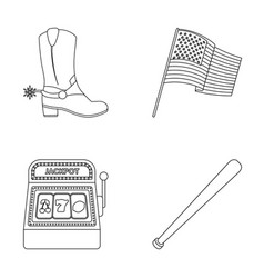 Cowboy boots national flag slot machine vector