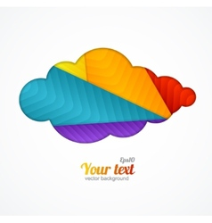 Creative cloud background for text vector image
