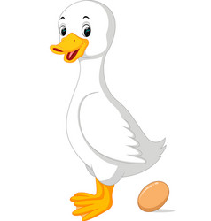 Cute duck vector