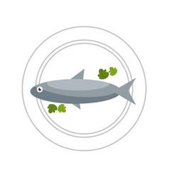 Delicious healthy food dishes vector
