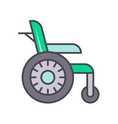 Disability wheelchair linear icon vector