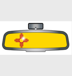 driving across new mexico vector image