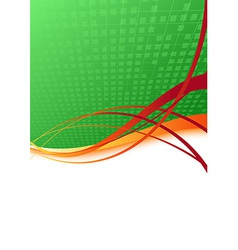 Ecology background with orange swoosh vector image