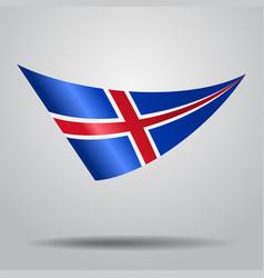 icelandic flag background vector image vector image