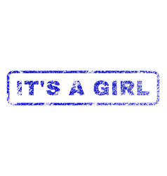 It s a girl rubber stamp vector