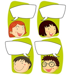 Kids and communication signs vector