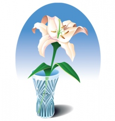 lily in the vase vector image vector image