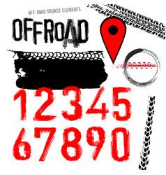 Off road set vector
