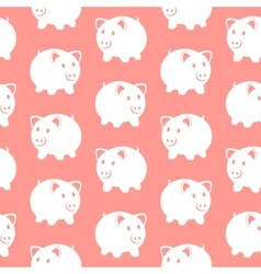 Piggy bank Seamless pattern vector image vector image