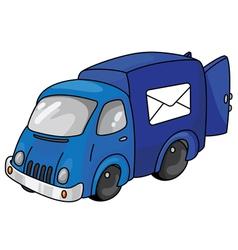 Post car with open doors vector