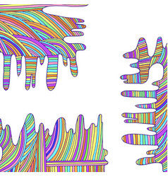 Psychedelic rainbow background of lines pastel vector