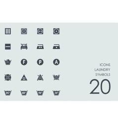 Set of laundry symbols icons vector image