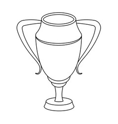 Silver cupaward the winner of the competition for vector