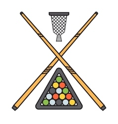 Snooker cue billiard sticks vector