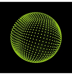 Sphere consisting of points abstract globe grid vector