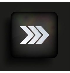 square icon on black background Eps10 vector image vector image