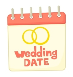 Wedding date icon cartoon style vector