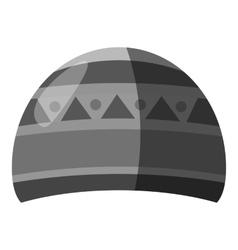 Winter hat icon gray monochrome style vector image vector image