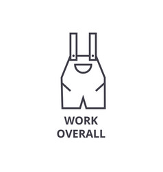 work overall line icon outline sign linear vector image vector image