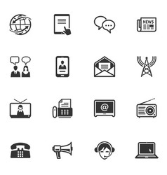 Communication icons - set 2 vector