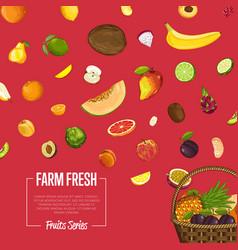 Fresh organic fruit poster vector