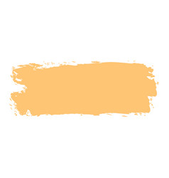 yellow paint brushstroke vector image