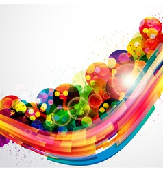 Abstract background forming by watercolor paint vector image
