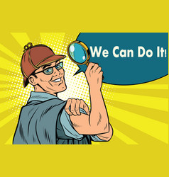 Sherlock holmes detective sleuth we can do it vector