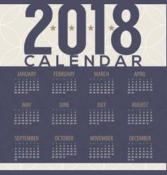 2018 tradition pattern printable calendar vector