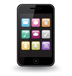 Smart phone apps vector