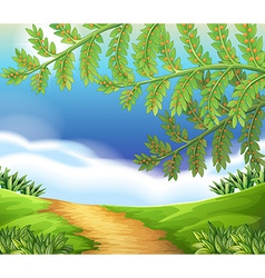 A view of nature vector