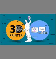 3d printer arms for venus de milo vector image