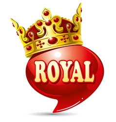 Royal speech vector